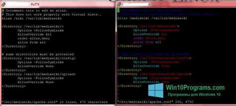 Скриншот программы PuTTY для Windows 10