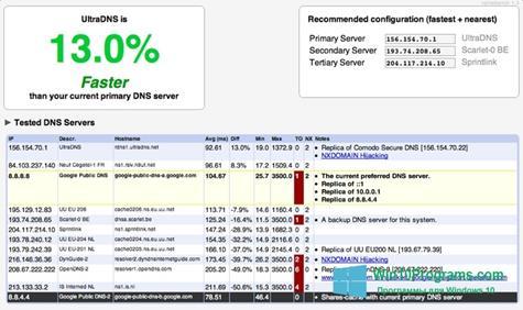 Скриншот программы NameBench для Windows 10