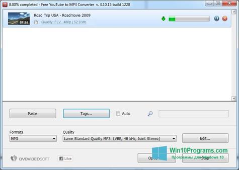 Скриншот программы Free YouTube to MP3 Converter для Windows 10