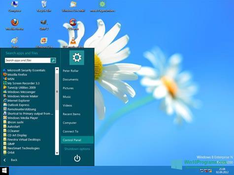 Скриншот программы ViStart для Windows 10
