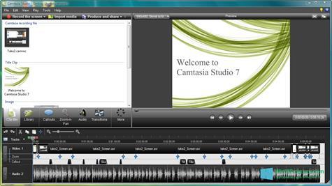 Скриншот программы Camtasia Studio для Windows 10