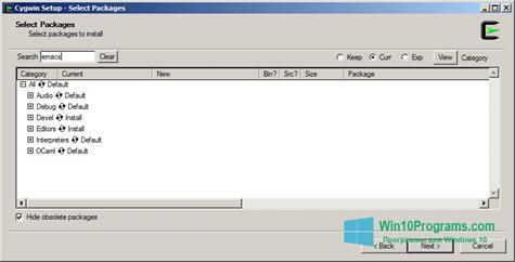 Скриншот программы Cygwin для Windows 10
