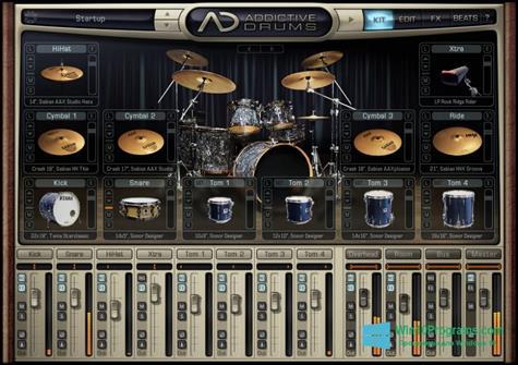 Скриншот программы Addictive Drums для Windows 10