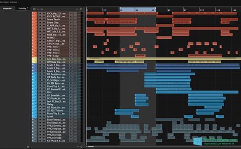 Скриншот программы Nuendo для Windows 10