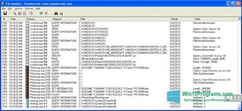 Скриншот программы FileMon для Windows 10