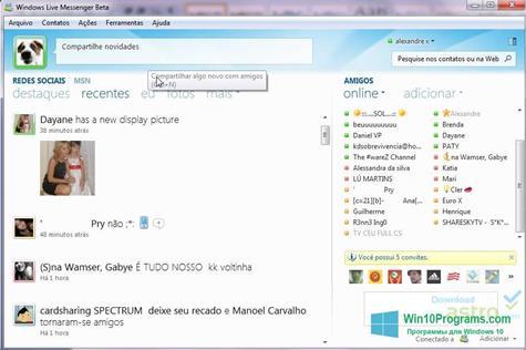 Скриншот программы Windows Live Messenger для Windows 10