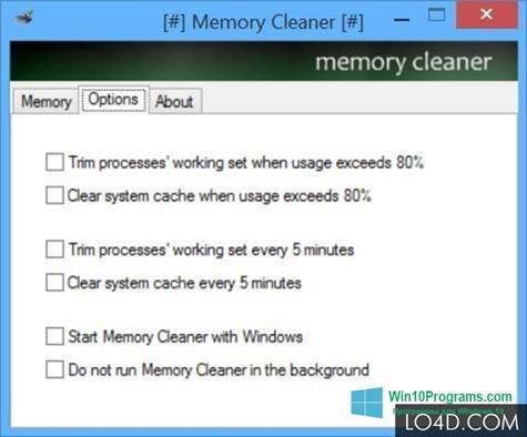 Скриншот программы Memory Cleaner для Windows 10