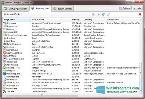 Скриншот программы Startup Delayer для Windows 10