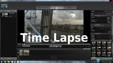 Скриншот программы GoPro Studio для Windows 10