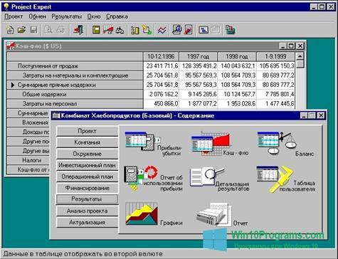 Скриншот программы Project Expert для Windows 10