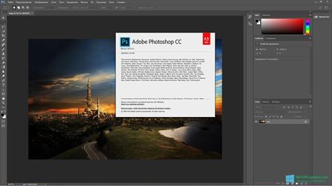 Скриншот программы Adobe Photoshop CC для Windows 10