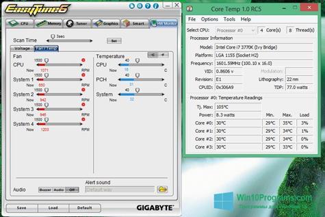 Скриншот программы EasyTune для Windows 10