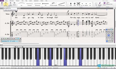 Скриншот программы Sibelius для Windows 10