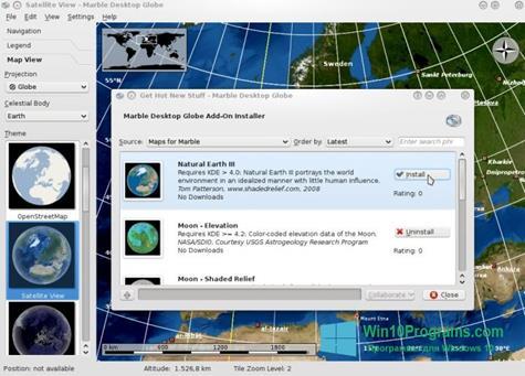 Скриншот программы Marble для Windows 10