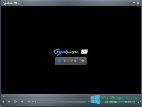 Скриншот программы RealPlayer для Windows 10