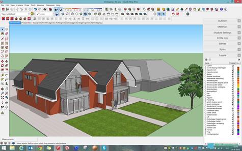Скриншот программы SketchUp для Windows 10