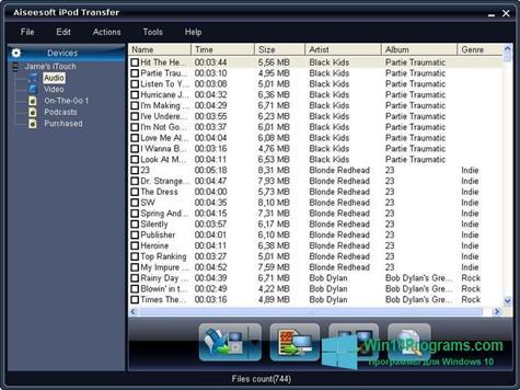 Скриншот программы iPhone PC Suite для Windows 10