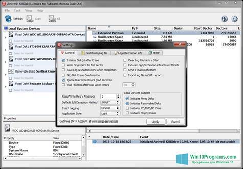 Скриншот программы Active KillDisk для Windows 10