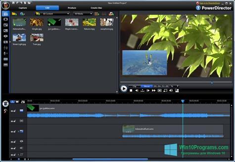 Скриншот программы CyberLink PowerDirector для Windows 10
