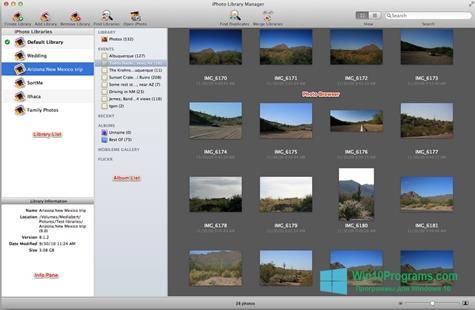 Скриншот программы iPhoto для Windows 10