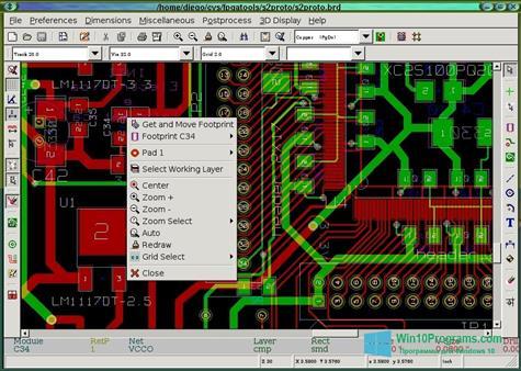 Скриншот программы KiCad для Windows 10
