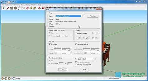 Скриншот программы SketchUp Make для Windows 10