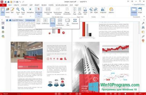 Скриншот программы Soda PDF для Windows 10