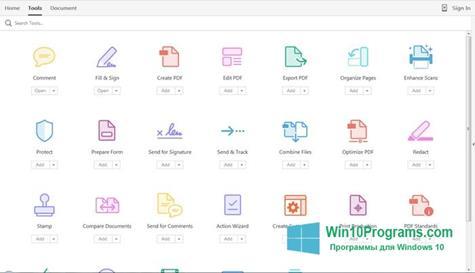 Скриншот программы Adobe Acrobat Pro для Windows 10