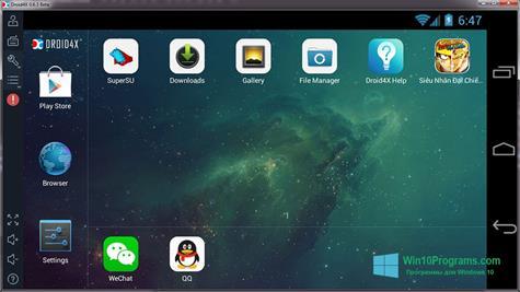 Скриншот программы Droid4X для Windows 10