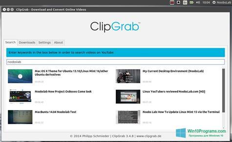 Скриншот программы ClipGrab для Windows 10