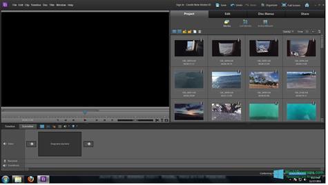Скриншот программы Adobe Premiere Elements для Windows 10