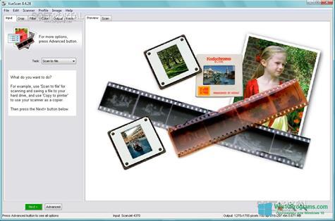 Скриншот программы VueScan для Windows 10
