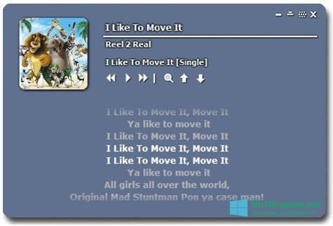 Скриншот программы MiniLyrics для Windows 10