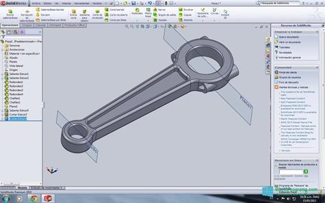 Скриншот программы SolidWorks для Windows 10