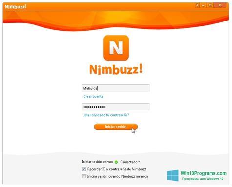 Скриншот программы Nimbuzz для Windows 10