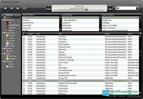 Скриншот программы Songbird для Windows 10