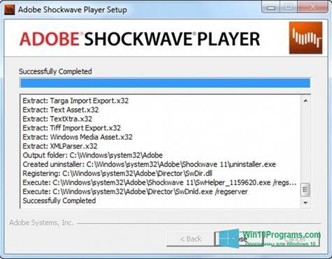 Скриншот программы Shockwave Player для Windows 10
