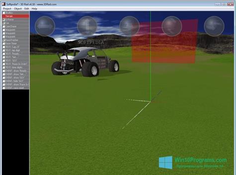 Скриншот программы 3D Rad для Windows 10