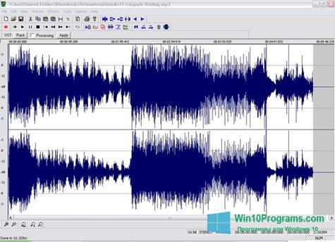 Скриншот программы Wavosaur для Windows 10