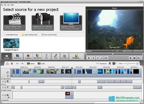 Скриншот программы AVS Video Editor для Windows 10