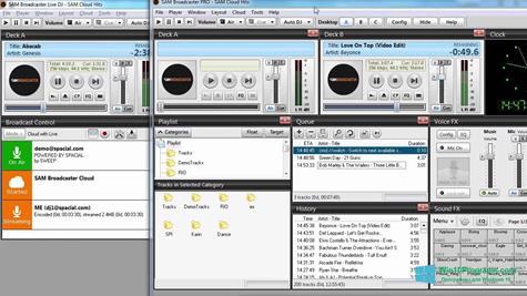 Скриншот программы SAM Broadcaster для Windows 10