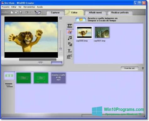 Скриншот программы WinDVD Creator для Windows 10
