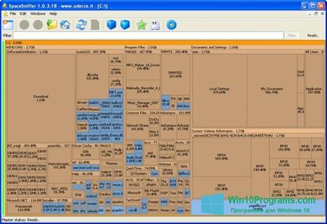 Скриншот программы SpaceSniffer для Windows 10