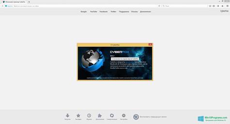 Скриншот программы Cyberfox для Windows 10
