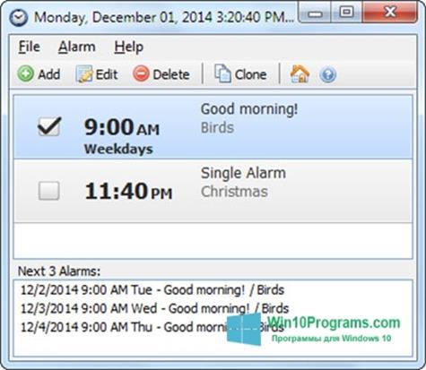Скриншот программы Free Countdown Timer для Windows 10