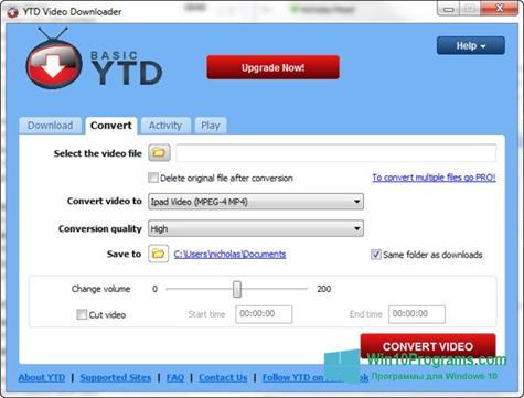Скриншот программы YTD Video Downloader для Windows 10
