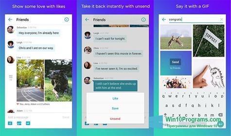 Скриншот программы Yahoo Messenger для Windows 10