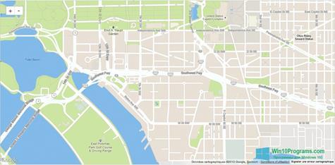 Скриншот программы Google Maps для Windows 10