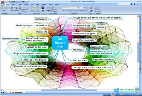 Скриншот программы MindManager для Windows 10