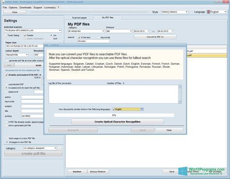 Скриншот программы Scan2PDF для Windows 10